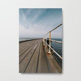 Seaside Walkway Metal Print