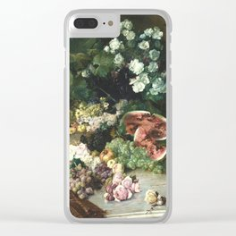 Floral Painting Clear iPhone Case