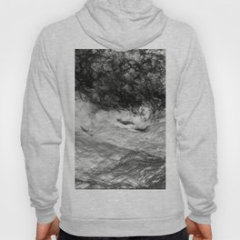 Black Tempest - Abtract Ocean Sea Pattern in Black And White Hoody