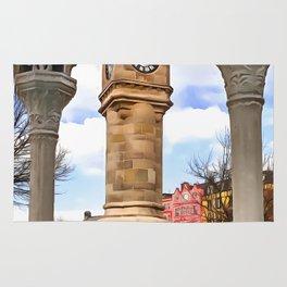 The Mckee Clock in Bangor, Ireland. (Painting) Rug