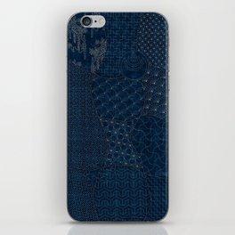 Sashiko - random sampler iPhone Skin