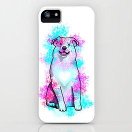 Australian Shepherd in Watercolor Splash iPhone Case