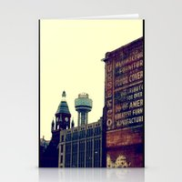 dallas Stationery Cards featuring DALLAS GHOSTS by Johnny Cashley
