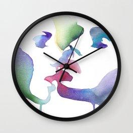 Girls playing hard (Dangerous liaisons) Wall Clock
