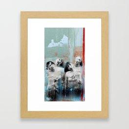 Four shades Framed Art Print