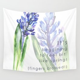 Hyacinth flowers Wall Tapestry