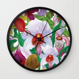 Orchid garden Wall Clock
