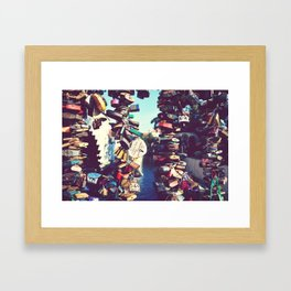 Love locks, Prague. Framed Art Print
