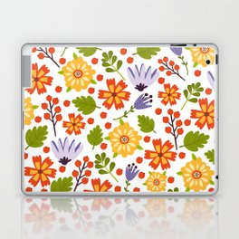 Sunshine yellow lavender orange abstract floral illustration Laptop & iPad Skin