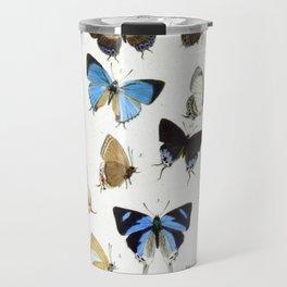 Vintage Butterfly Illustration Travel Mug