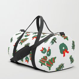 Cute Christmas Foliage Print Duffle Bag