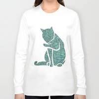 sassy Long Sleeve T-shirts featuring Sassy Cat by Rudi Rodebush