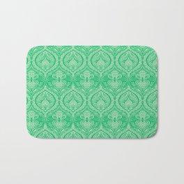 Simple Ogee Green Bath Mat