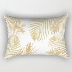 Gold Palm Leaves Rectangular Pillow