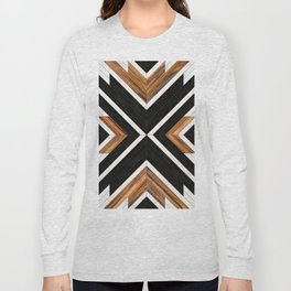 Urban Tribal Pattern 1 - Concrete and Wood Long Sleeve T-shirt