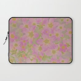 Pink Floral, The Earth Laughs In Flowers Laptop Sleeve