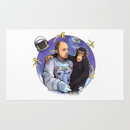 Karl Pilkington - An Idio In Space Rug