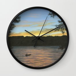 Evening at Keuka Lake NY Wall Clock