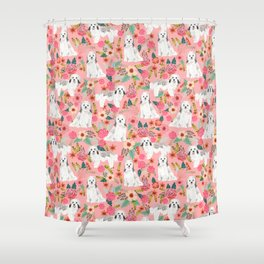 Havanese floral dog breed pure breed dog gifts Shower Curtain