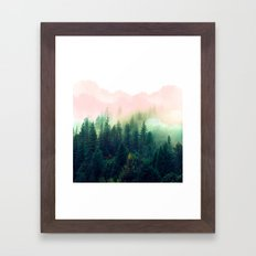 Watercolor mountain landscape Framed Art Print