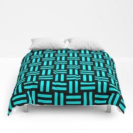 Equal Parts Aqua Comforters