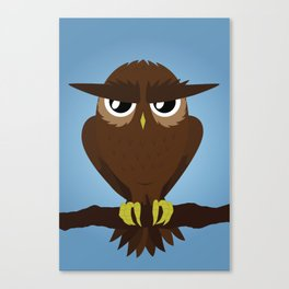 Angry Owl Canvas Print
