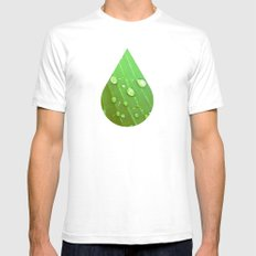 Jungle Drops. Mens Fitted Tee White SMALL