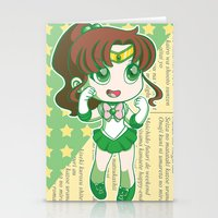sailor jupiter Stationery Cards featuring Sailor Jupiter by strawberryquiche