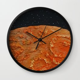 Mars / Mixed Media Painting Wall Clock