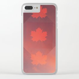 Maple Sunset Clear iPhone Case