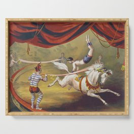 Banner Act - Vintage Circus Art, 1873 Serving Tray