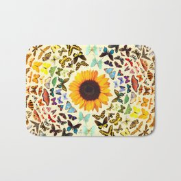 Sunflower and Butterflies Bath Mat