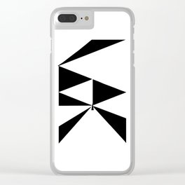 Triangles 2 Clear iPhone Case