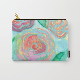Preppy Floral Carry-All Pouch