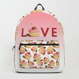 Pink Cupcake LOVE Backpack