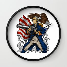 Patriotic Father Of Merica | Independence Day Wall Clock
