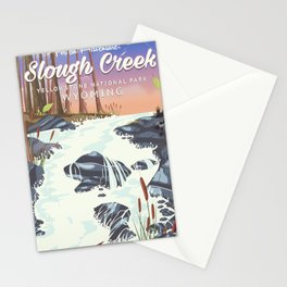 Slough Creek Yellowstone national park Stationery Cards