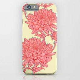 Chrysanthemum in Pink iPhone Case