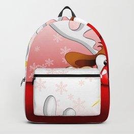 Funny Christmas Reindeer Cartoon Backpack