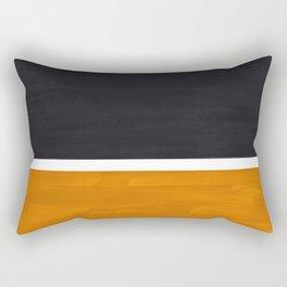 Black Yellow Ochre Rothko Minimalist Mid Century Abstract Color Field Squares Rectangular Pillow