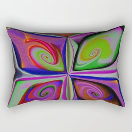 Digital butterfly Rectangular Pillow