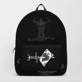 Ace of Spades-Gambling-Death Card-Skull Dagger Backpack