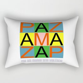 Against violence Rectangular Pillow