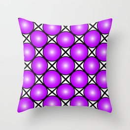 Neon Purple Pattern Throw Pillow