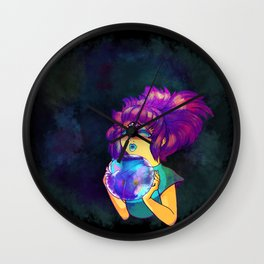 Psychic Girl With Crystal Ball Wall Clock