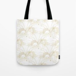 Elegant tropical leaves golden strokes design Tote Bag