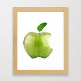 Fresh Green Apple! Beloved Apple! Framed Art Print