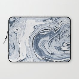 Kiyomi - spilled ink japanese monoprint marble paper marbling art print cell phone case with marble Laptop Sleeve