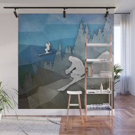 The Skiers Wall Mural