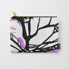 Purple Stain Butterfly Carry-All Pouch